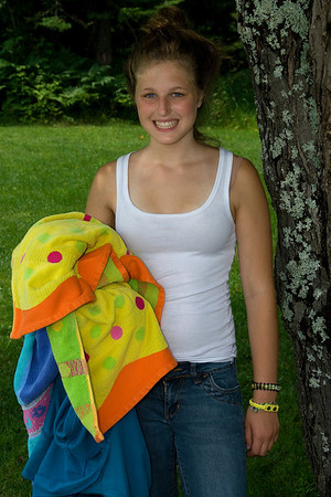 Carly at Camp Chateaugay, July 2008