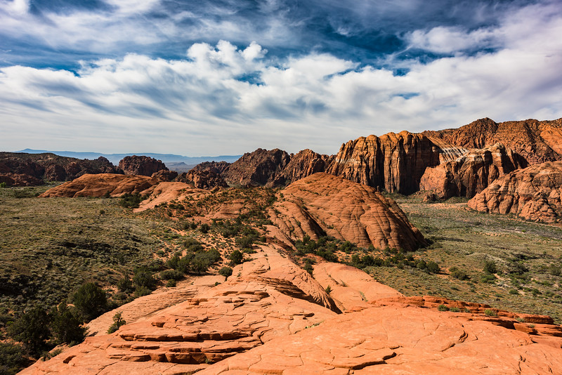 This is Snow Canyon State Park in St. George, Utah
