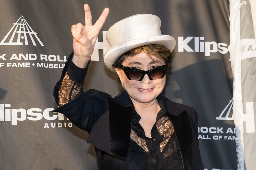 . Yoko Ono on the red carpet prior to the 2015 Rock And Roll Hall Of Fame Induction Ceremony at Public Hall on Saturday, April 18, 2015, in Cleveland, Ohio. (Photo by Jason Miller/Invision/AP)