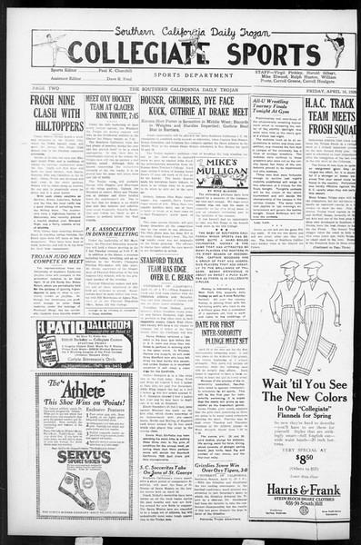 Daily Trojan, Vol. 17, No. 125, April 16, 1926