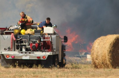 Grass fire in West Howe, 10/15/2015