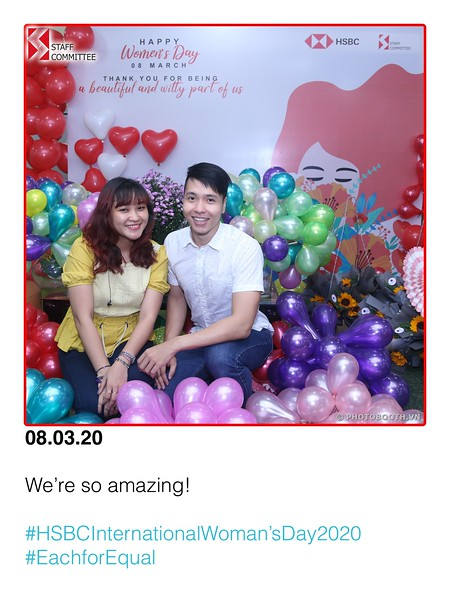 HSBC | International Women's Day instant print photo booth @ Nguyen Van Troi Office | Chụp hình lấy liền Sự kiện Quốc tế Phụ nữ 8/3 | Photobooth Saigon