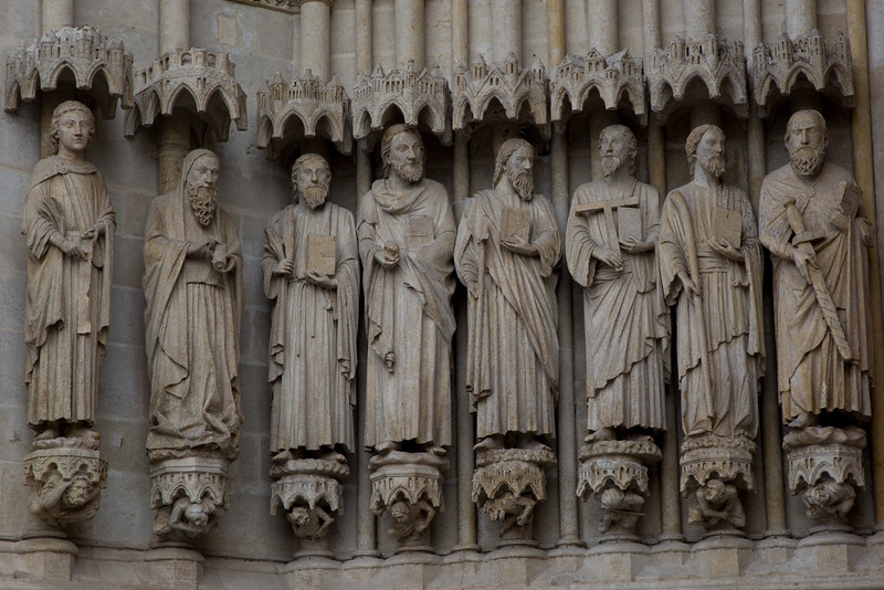 Amiens Cathedral West Facade Figures