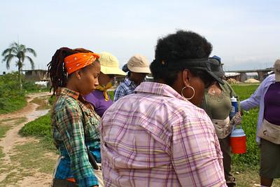 September 2011 women's build in Haiti day 7