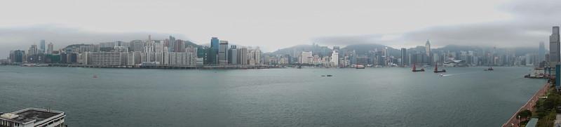Skyline from Kerry Hotel, Hong Kong.