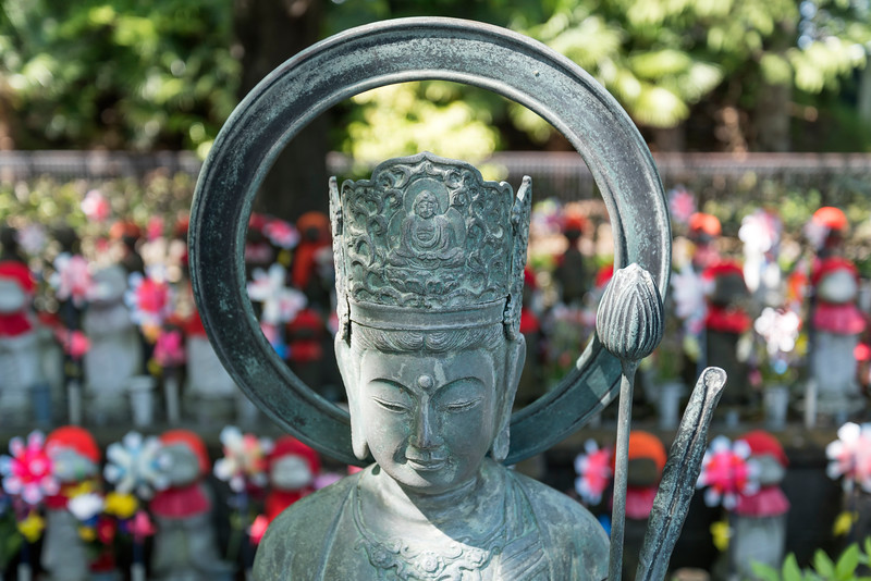 Jizo statues, Zojoji Temple