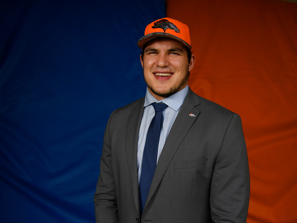 . Denver Broncos second round pick DL Adam Gotsis at Broncos headquarters April 30, 2016. (Photo by Andy Cross/The Denver Post)