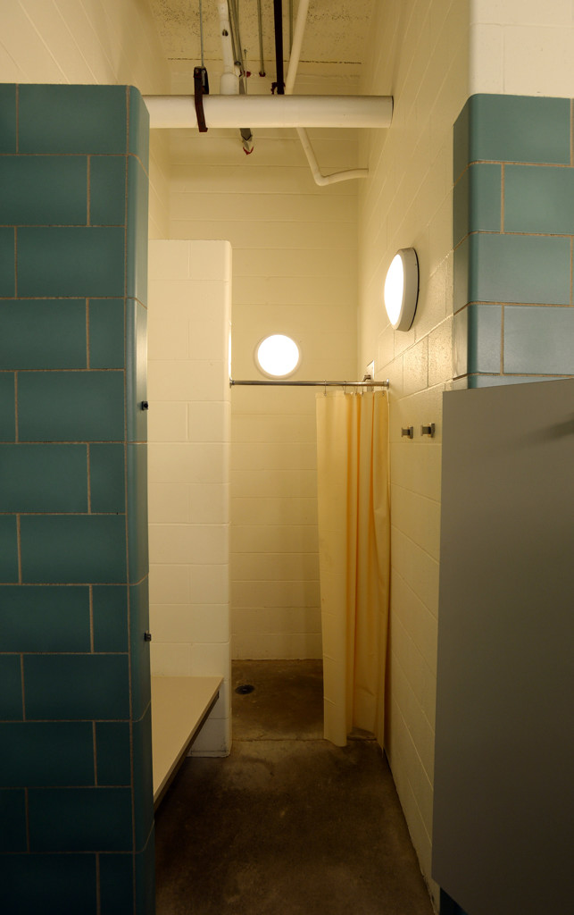 . Private shower stalls with locking doors are provided for Higher Ground clients.  (Pioneer Press: Chris Polydoroff)