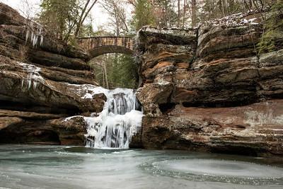Hocking Hills State park Winter Scenes
