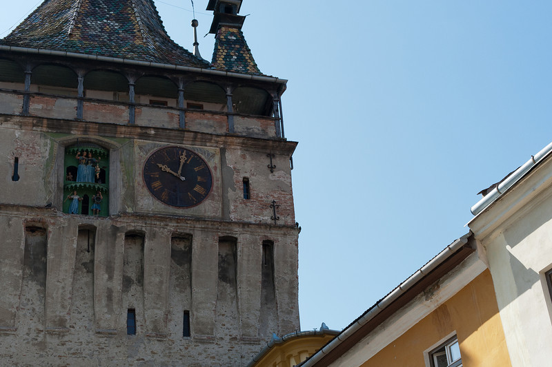 Sighisoara Clock Tower in Transylvannia, Romania