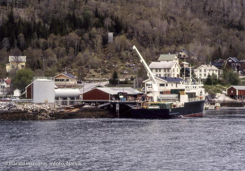 Bilde i serie fra Kjøpsvik i Tysfjord kommune. Kaia i Kjøpsvik, nær fergekaia.