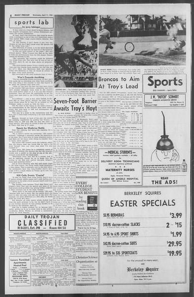 Daily Trojan, Vol. 53, No. 108, April 11, 1962