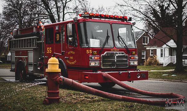 Detroit MI, Garage Fire 3-22-2020