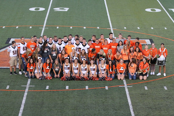 2015:  Wheelersburg  Seniors at Meet the Team 2015