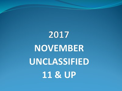 2017 November Unclassified 11 & Up