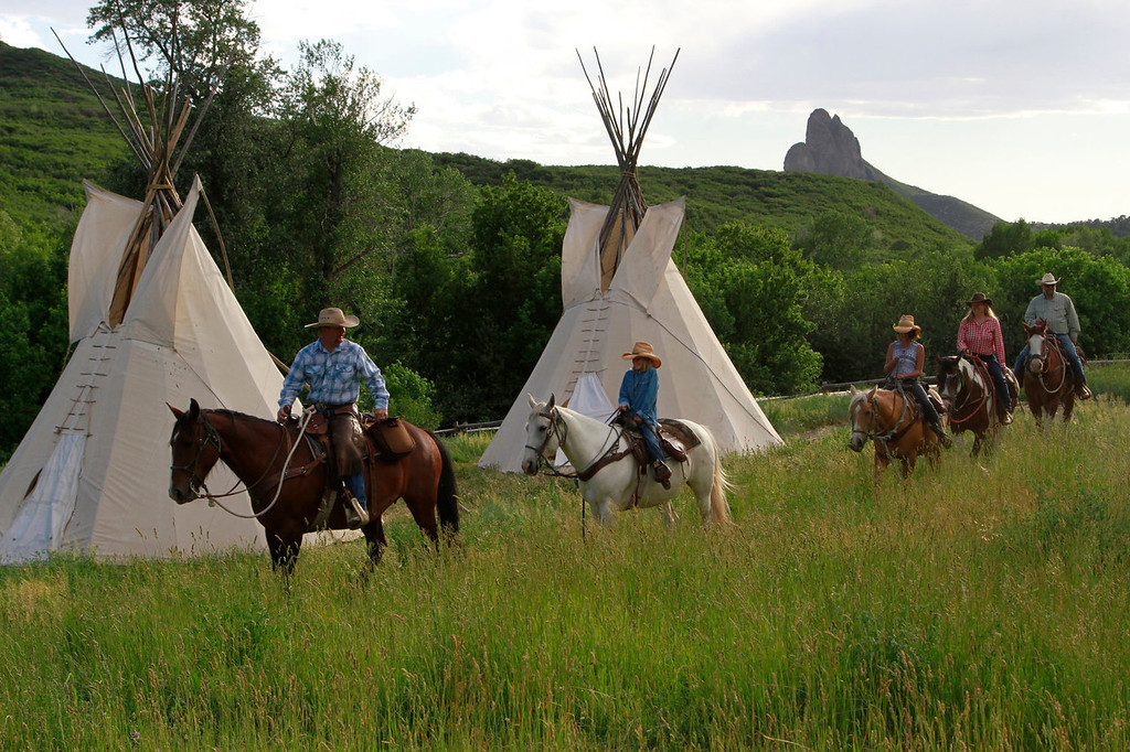 . Horseback riding is one of the many activities available at Smith Fork Ranch near Crawford, Colorado.  Photo provided by Greg Poschman