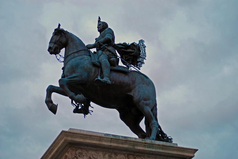 Stytta af Filip IV, reist 1843 - hvað gerði hann merkilegt? Kristinn sagði okkur það.