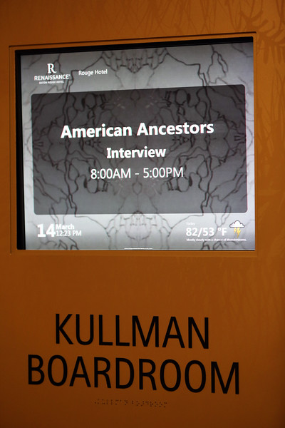American Ancestors Interviewing the GU272 in Baton Rouge