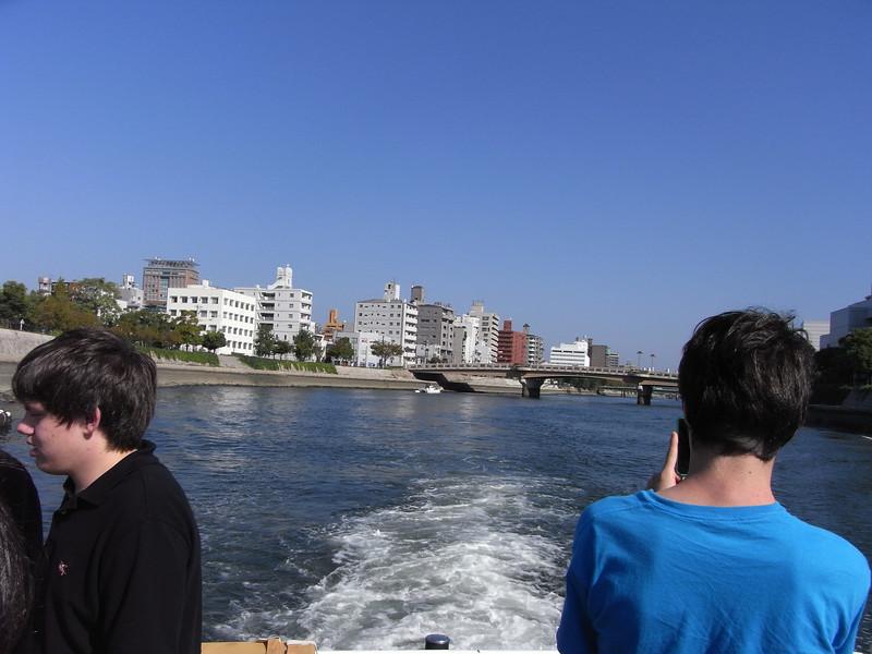 On the boat to Miyajima