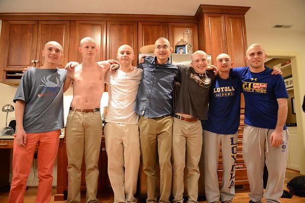 2017 Loyola Swimming - 02-02-2017 - Head Shaving