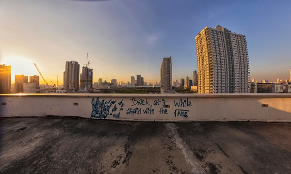 at an abandoned office tower, Din Dang District, Bangkok, Thailand