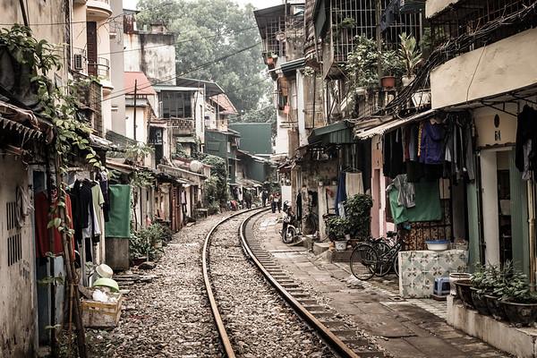 Hanoi 'train street'
