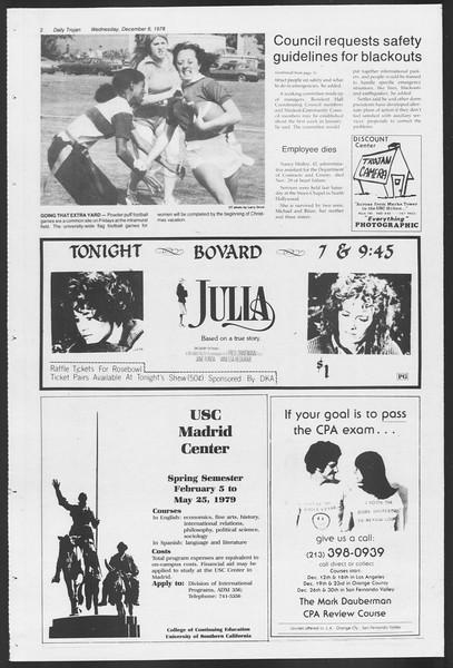 Daily Trojan, Vol. 75, No. 49, December 06, 1978