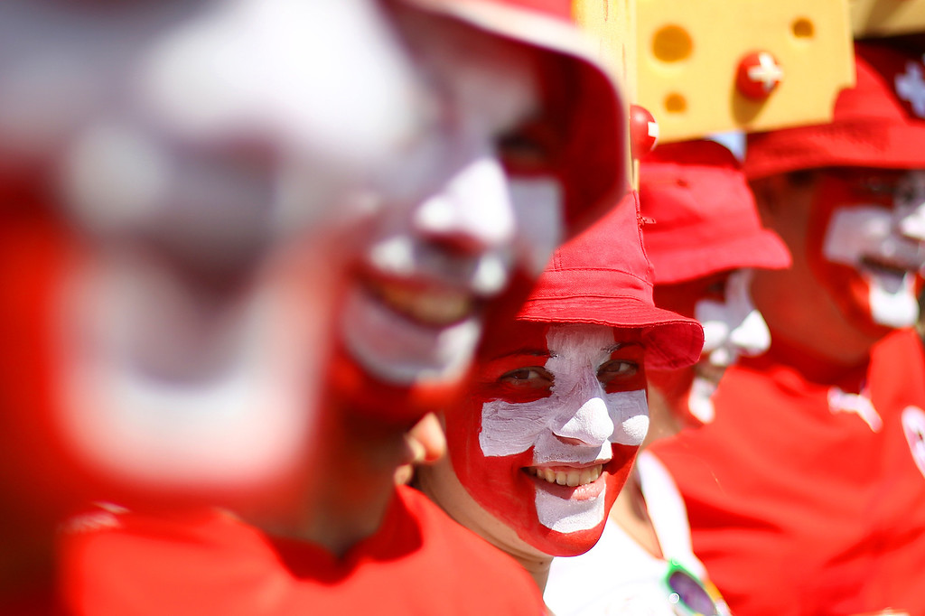 . Fans arrive before the Group E match between Switzerland and Ecuador at Estadio Nacional on June 15, 2014 in Brasilia, Brazil. (Photo by Celso Junior/Getty Images)