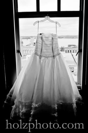 Melissa and Everett B/W Wedding Photos