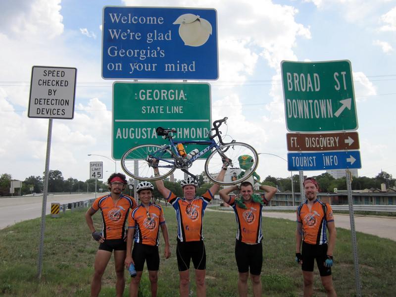2010 07-22  Yeah! Crossing South Carolina border into Georgia.  ky