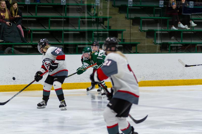 Holy Family's Grayson Limke '23 (19) vs. Eden Prairie at Braemar Arena - Collin Nawrocki/The Phoenix