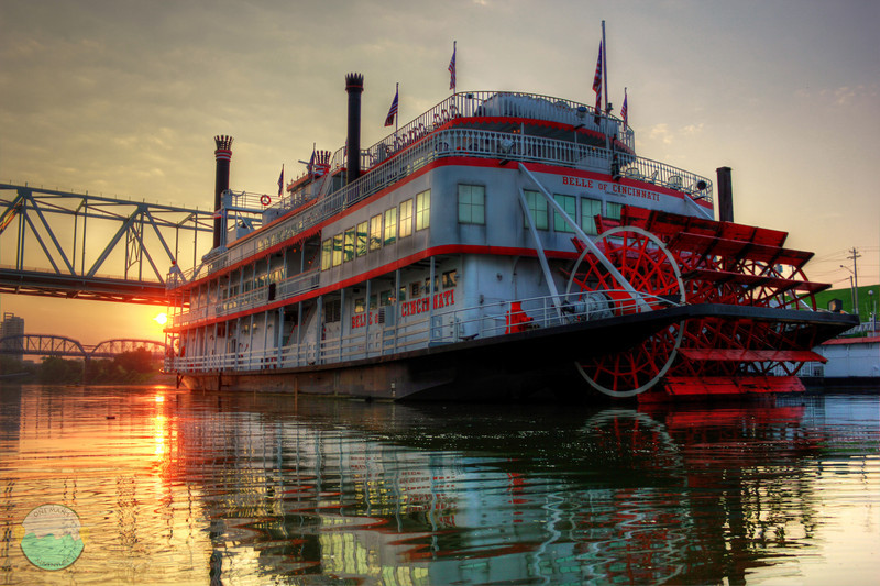 Belle of Cincinnati<br /> From the river on the morning after Summer Soltice.  The beginning of summer!