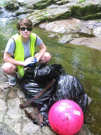 5.6.12 New Cut Road Trash & Invasive Plant Removal by HCC Student Molly Freiert
