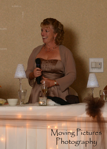 A toast from the matron of honor