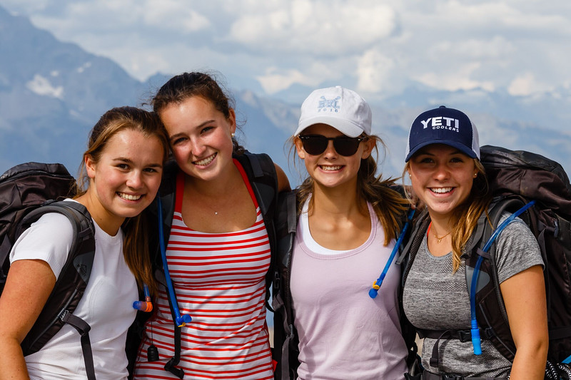 Penelope, Peyton, Shea, and Mary at Gornergrat
