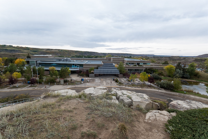 The Royal Tyrrell Museum from the outside