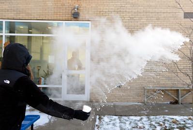 Taking the frozen water challenge