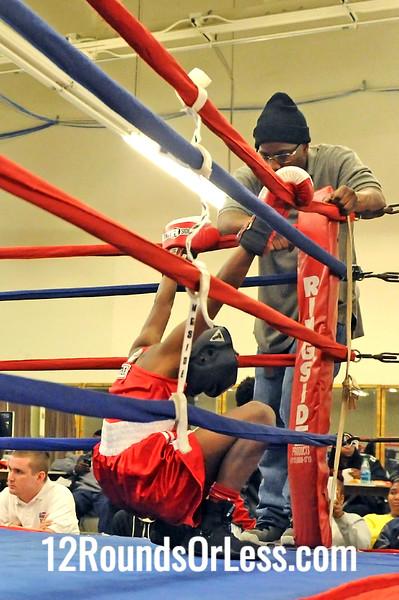 Bout 7 Dantae Benjamin -vs- Iland Archie, Junior, 85 lbs.