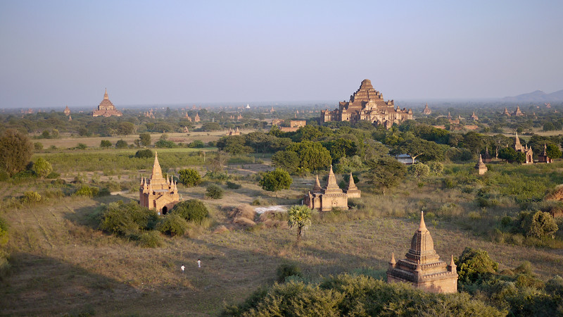 Fields of temples in Bagan, Burma (Myanmar)