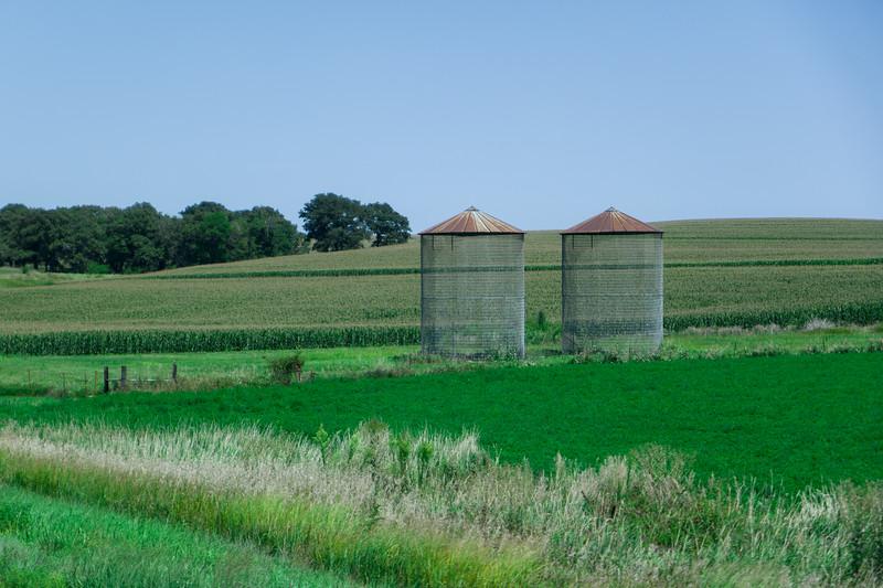 Empty Corn Bins