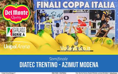 #Semifinale #DelMonteCoppa «Diatec Trentino - Azimut Modena» #SuperLega