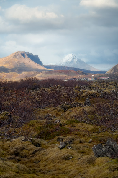 Baula rising above the Lava Landscape