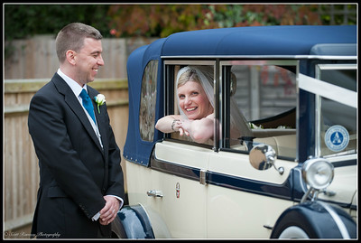 Kerry Bayliss and David Simmons wedding at Random Hall Hotel in Slinfold, West Sussex.