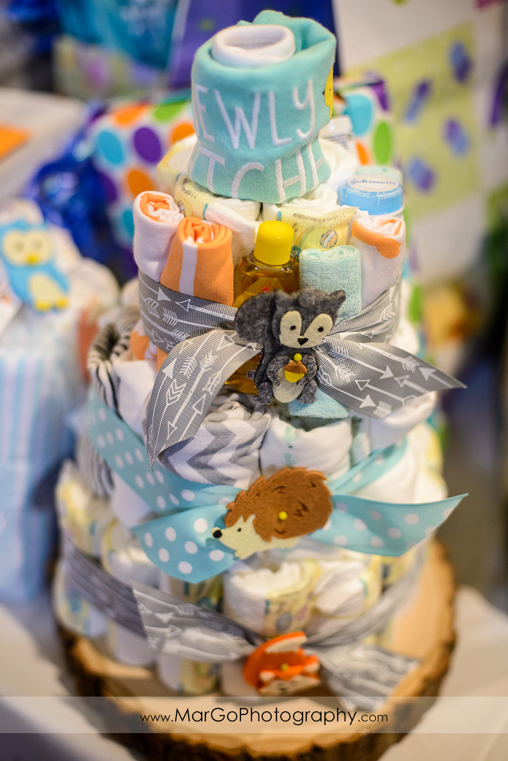 baby shower clothes cake, Windmill Ridge Winery