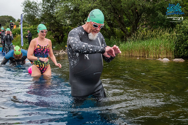 Big Welsh Swim - Start Pictures 9kM Green Hats at Penllyn
