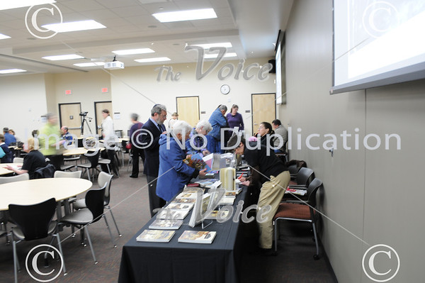 Waubonsee Community College Spotlight on Aurora's immigrant history at downtown Aurora campus in Aurora, IL 3-29-12
