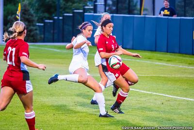 9-18-15 Michigan Women's Soccer Vs Nebraska