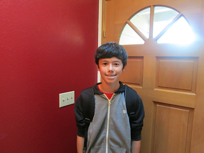 Dylan's 1st day of school 2012