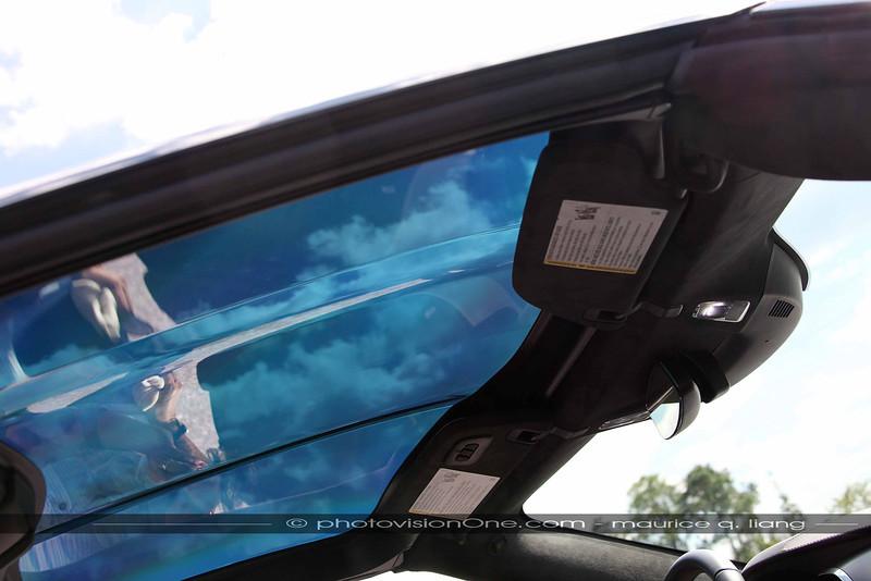 Transparent roof panel.