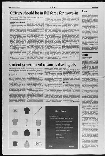Daily Trojan, Vol. 159, No. 1, August 16, 2006